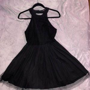 Halter lace mesh dress